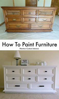 How To White Paint How To Paint Furniture