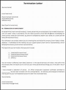 Termination Employee Letter Termination Letters Free Word Templates