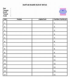 daftar hadir rapat dinas untuk sekolah umum guru loyal
