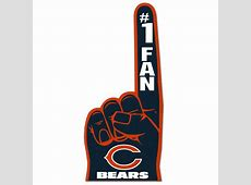 Chicago Bears #1 Fan Foam Finger   Free Shipping On Orders