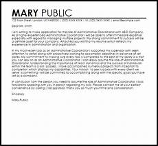 Cover Letter For Project Coordinator Position Administrative Coordinator Cover Letter Sample Cover