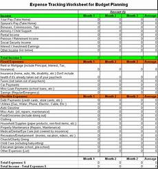 Budget And Expenses Free Expense Tracking Worksheet For Budget Planning