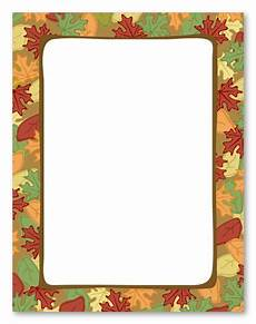 Fall Letters Template Free Printable Fall Stationery Borders Free Printable