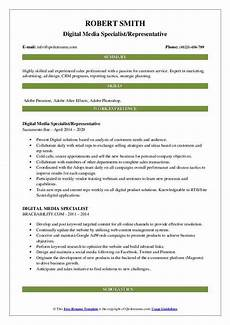 Digital Media Resume Digital Media Specialist Resume Samples Qwikresume