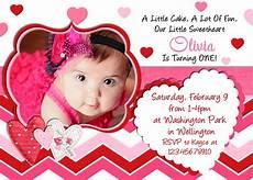 Free Invitation Birthday Cards Birthday Invitation 1st Birthday Valentines Day