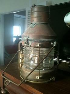 Antique Ship Lights Beautiful Huge Vintage Brass Anchor Ship Lantern Light