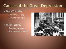 Causes Of The Great Depression Ppt The Great Depression And New Deal 1929 1939