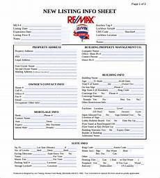 Property Listing Form Template 10 Best Property Listing Sheet Examples Amp Templates