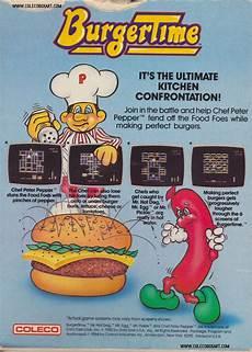 Colecovision Box Art Burgertime