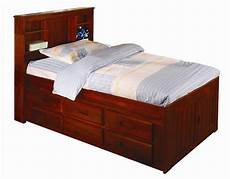 discovery world furniture merlot captain bed with