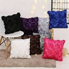 Floor Sofa Cushion 3d Image by 45cm 3d Rosette Satin Cushion Cover Pattern Throw