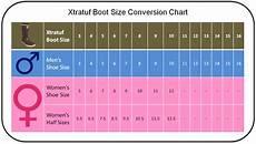 Shoe Size Translation Chart Xtratuf Boot Conversion Chart Men S To Women S Boot
