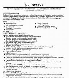 Sample Resume Qa Tester Manual Qa Tester Resume Sample Technical Resumes