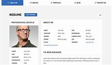 Personal Resume Website Example 23 Best Html Resume Templates To Make Personal Profile Cv