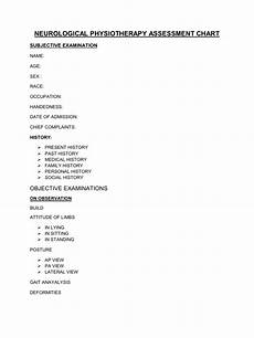 Physiotherapy Assessment Chart Neurological Physiotherapy Assessment Chart