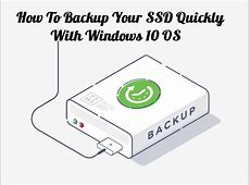Backup SSD To HDD (External Or Internal) With Windows 10