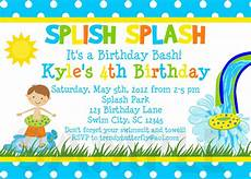 Summer Party Invites Printable Birthday Party Invitations Summer Themed