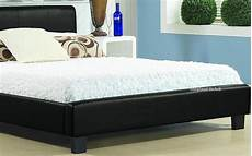 inspire hamburg bed frame in black faux leather 3ft single