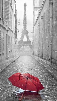 City Painting Iphone Wallpaper by Umbrella Rainy Day Eiffel Tower Iphone