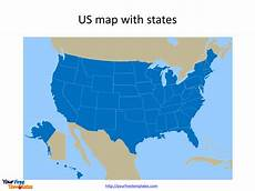 Us Map Template Powerpoint Free Us Map With States Free Powerpoint Templates