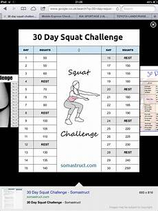 Squat Max Out Chart Work Out Must Get Fit 30 Day Squat Challenge 30 Day