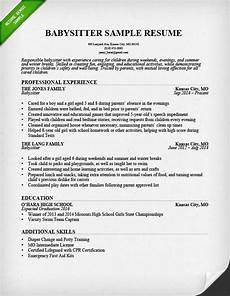 Babysitter Responsibilities Resume Sample Resume Babysitter Job Description Babysitter