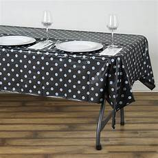 plastic table clothes 54 quot x72 quot black white wholesale disposable waterproof polka