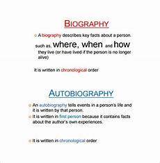 Auto Biography Outline 6 Autobiography Outline Templates Free Pdf Word