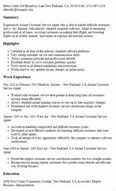 Airline Customer Service Agent Resume Customer Service Resume Templates To Impress Any Employer