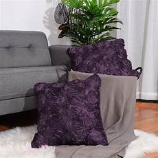 Floral Sofa Slipcover 3d Image by 2pcs 3d Satin Flower Throw Pillow Cover Shells