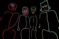 Diy Stickman Light Costume Stick Figure Costume El Wire Kit Tron Burning Halloween