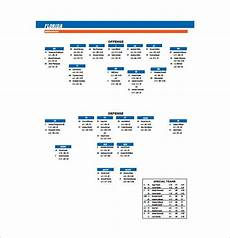 Football Defensive Chart 13 Football Depth Chart Template Free Sample Example