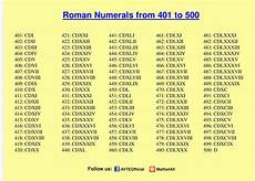 Roman Number 1 To 50 Chart Get Free Printable Roman Numerals 1 To 500 Charts