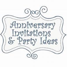 Printable Anniversary Party Invitations Free Anniversary Party Invitations Templates And Ideas
