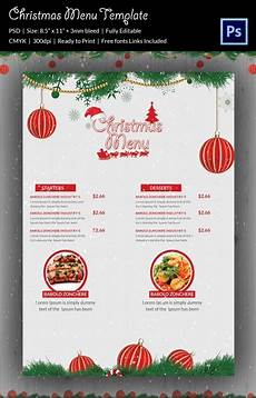 Free Blank Christmas Menu Templates 35 Christmas Menu Template Free Sample Example Format