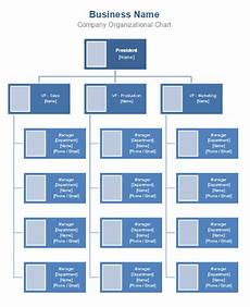 Business Hierarchy Chart Template Free Organizational Chart Template Company Organization