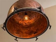 Copper Drum Light Fixture Timpani Drum Solid Copper Chandelier Fixture France