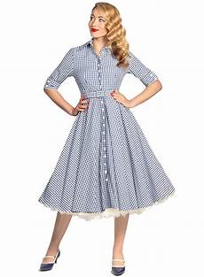 50s clothes way out west navy gingham vintage 50s style swing dress