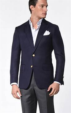 sporty coats navy hopsack classic bespoke sport coat