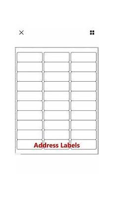 Avery 30 Labels Template 300 Avery 5160 8160 Shipping Address Labels 30 Per Sheet