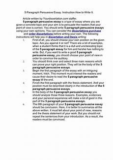 Persuasive Writing Essay Example 5 Paragraph Essay Example On Quotes Quotesgram