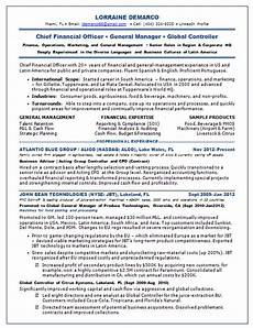 Chief Financial Officer Resume Resume Samples Chief Financial Officer Cfo Consumer Cpg