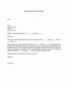 Letter Of Resognation 9 Official Resignation Letter Examples Pdf Examples
