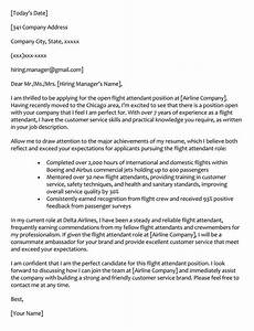 Flight Attendant Cover Letter Samples 66 Cover Letter Samples How To Format With Examples