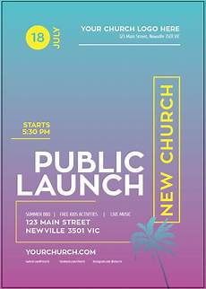 New Church Opening Flyer Public Launch Flyers Church In A Box Resource Marketplace