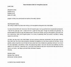 Immigration Letter Of Recommendation For Family Recommendation Letter For A Friend 15 Free Word Excel