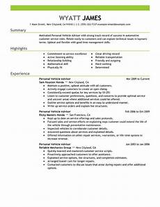 Automotive Cv 11 Amazing Automotive Resume Examples Livecareer