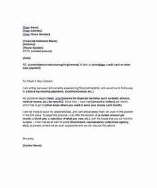 Sample Of Hardship Letter Financial Hardship Letter Credit Repair Business