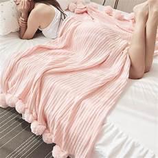 5 colors quality cotton pom crochet thread blanket 100