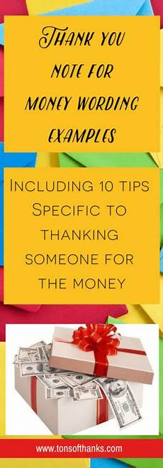 Thank You Note For A Thank You Gift How To Write A Thank You Note For Money With Examples